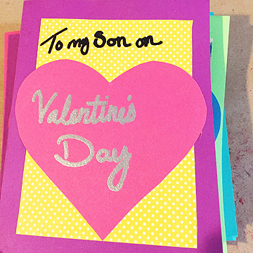 For her son's card she started out sweet…