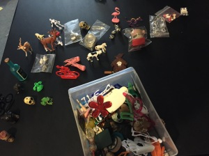 This is the collection of miniature things that Katie and Loni were playing with while recording.