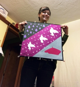 And this is her spectacular Prince tribute mini quilt.