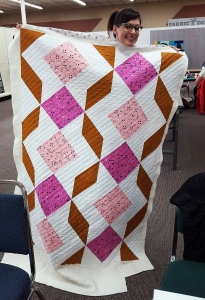 This is the baby quilt Corrinna talked about being the favorite quilt she has ever made.