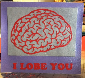 And Katie finally got her machine to properly cut so she could deliver this card to her friend when she visited him in the hospital the day after his Valentine's Day surgery.